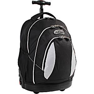 Школьный рюкзак на колесах – ранец JWORLD Sweet Black – арт. KRB001010 (для 3-5 класса, 21 литр)