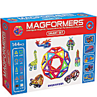 Магнитный конструктор Магформерс Смарт Сет 144 детали артикул 63082