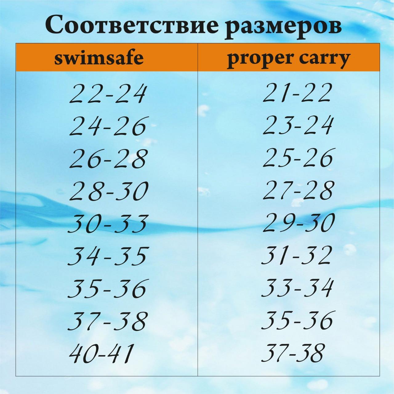 Детские ласты для плавания Proper-Carry Super Elastic размер 21-22, 23-24, 25-26, 27-28, 29-30, - фото 12